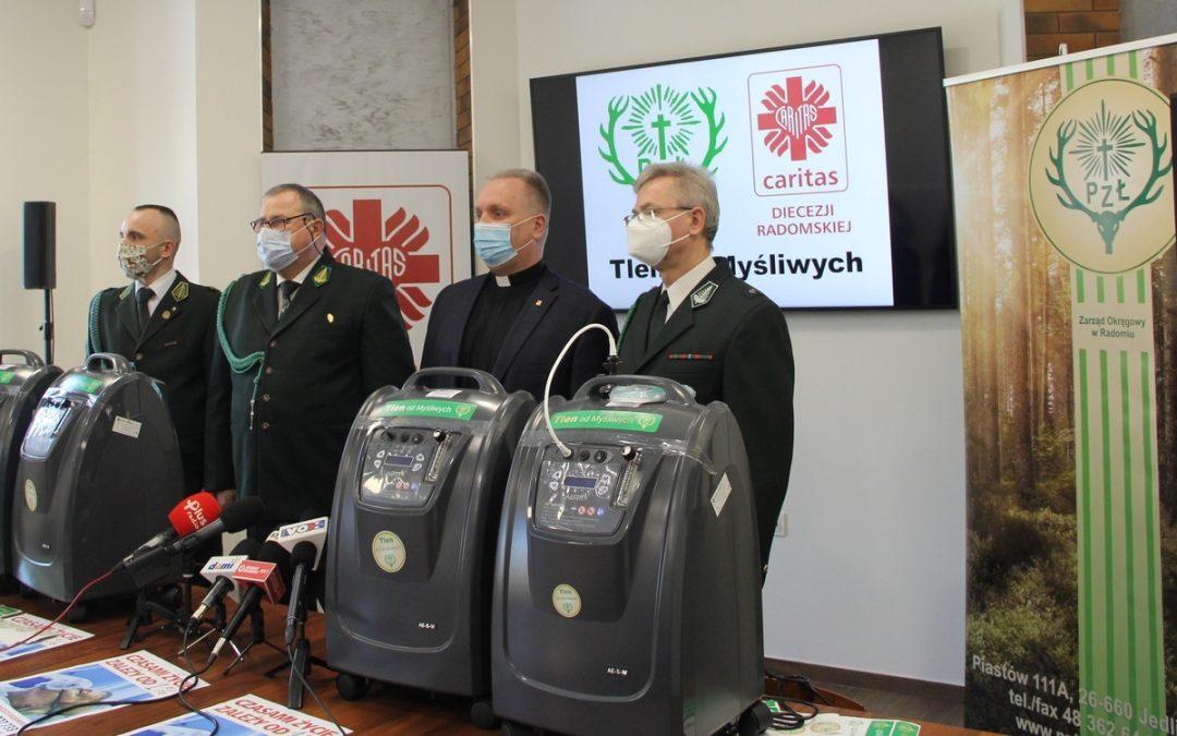 Koncentratory tlenu dla Caritas odmyśliwych
