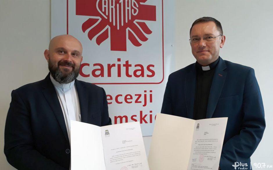 Zmiana warty wradomskiej Caritas